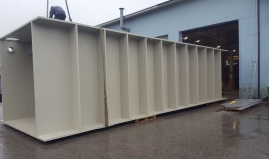 Liquid tank of Paneltim plastic construction panels