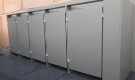 Toilets made of Paneltim plastic sandwich panels