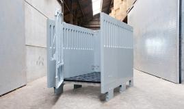 Verplaatsbare kalverbox uit Paneltim panelen en ventipanelen
