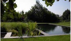 Ecologisch zwembad uit Paneltim kunststof panelen