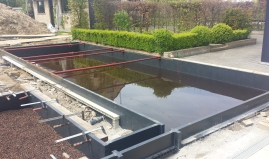 Swimming pond biofilter sandwich panels Paneltim