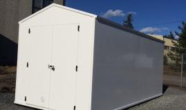 Opslagcontainer gebouwd met Paneltim kunststof sandwichpanelen