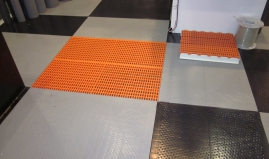 Anti skid floor grids sandwich panels Paneltim