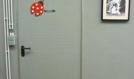 Inner door and wall in Paneltim plastic panels