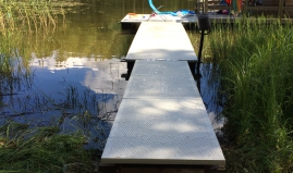 Floating jetty sandwich panels Paneltim