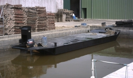Floating workboat sandwich panels Paneltim