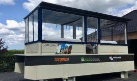 Paneltim boot op zonne-energie