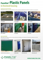 Paneltim plastic panels in livestock housing