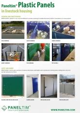 Paneltim plastic panels in livestock housing