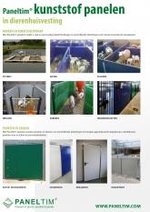 Paneltim Flyer kunststof panelen in dierenhuisvesting