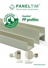 Paneltim PP H- and U-profiles