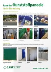 Paneltim Kunststoffpaneele in der Tierhaltung