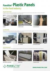 Flyer Paneltim plastic panels in food industry