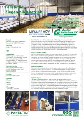 Kunststoffpaneelen in Ziegenmilchbetrieb