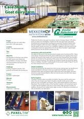 Paneltim plastic panels in goat dairy farm