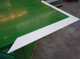 Paneltim plastic panels used to produce a door, using profiles