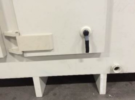 Paneltim plastic panels used to make a door with handle
