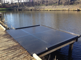 Paneltim plastic sandwich panels used for fishing pontoon