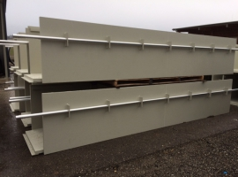 16x 5.2m long shafts from Paneltim palstic sandwich panels joined together to create an 80m long channel