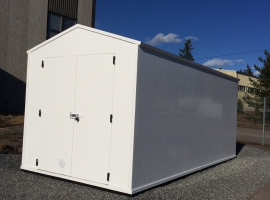 Storage container build with Paneltim plastic sandwich panels