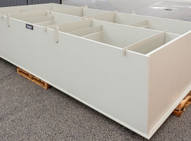Sedimentation tank from Paneltim plastic sandwich panels