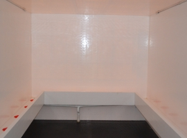 Toilet trailer made from Paneltim plastic sandwich panels