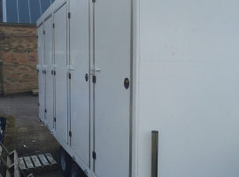 Paneltim plastic panels for sanitary trailers