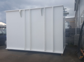 WWT tank from Paneltim plastic sandwich panels