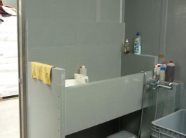 Paneltim plastic sandwich panels as a dog bath