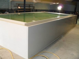Above ground pool from Paneltim plastic sandwich panels
