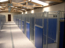 Paneltim plastic sandwich panels in dog shelters