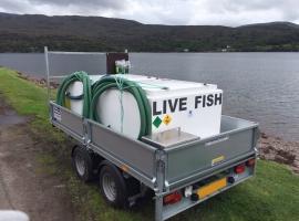 Paneltim plastic sandwich panels used for a live fish tank