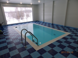 Indoor pool in Paneltim plastic sandwich panels