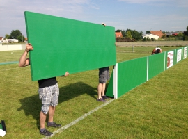 Paneltim plastic panels for boarding along sports fields