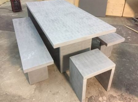 Paneltim plastic sandwich panels in garden furniture
