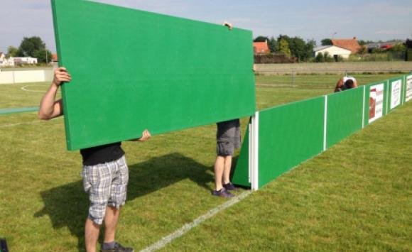 Demountable boardings made of Paneltim panels
