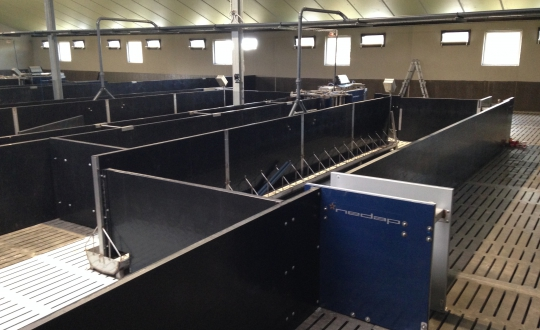 Paneltim hokafscheiding met sorteerstation