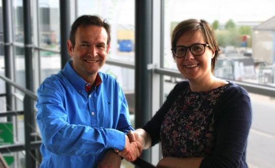 Paneltim 2 CEO's Annelies Deltour and Koen Stessens