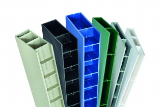 "Paneltim plastic panels in 20 mm, 35 mm and 50 mm (0.8"", 1.4"" and 2"")"
